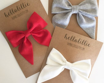 Sailor Bow 3 Pack- You Pick
