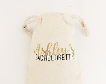 Personalized bachelorette party- Gold Foil- Bachelorette party- Name and event