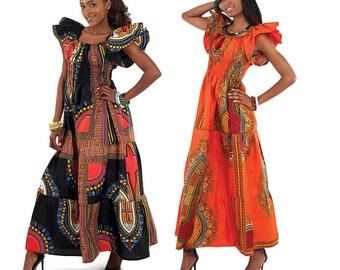 African Clothes , African Print  Maxi Dress