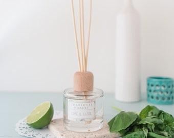 Lime and Basil Reed Diffuser, Home Fragrance, Essential Oils