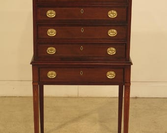 41318E: COUNCILL CRAFTSMEN Federal Mahogany Inlaid Silver Chest