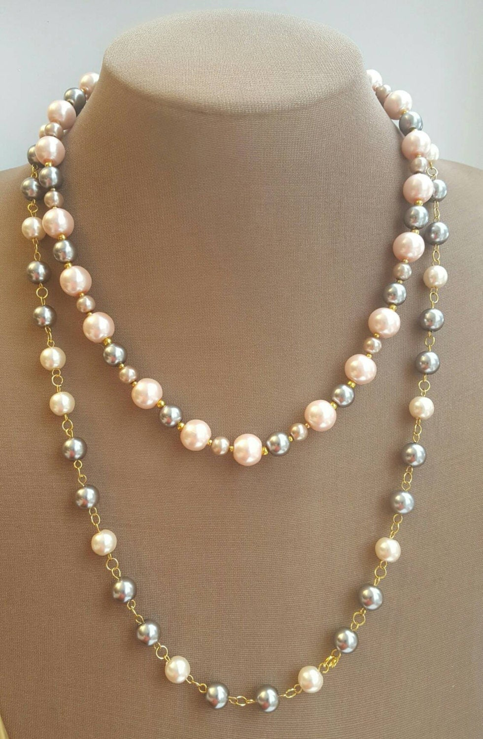 Two Strand Pink And Grey Pearl Necklace Grey Pearl. Pure Platinum. Coated Platinum. Gold European Platinum. Mixed Silver Hair Platinum. Full Platinum. Two Tone Platinum. Aquamarine Platinum. Gold New Orleans Platinum