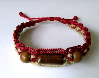 Very nice Macrame and Hemp Bracelet