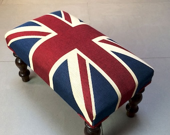 Small Bespoke Upholstered Footstools / Small Coffee Tables
