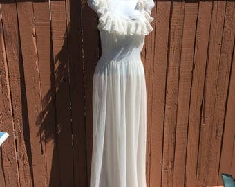 Silk Negligee from 1946 (Size Small)