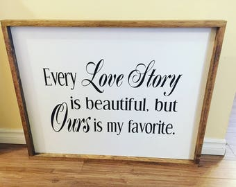 Love Story Wall Sign