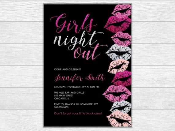 Bachelorette party invite bachelorette party invitation bachelorette invitation printable invite printable invitation girls night wedding