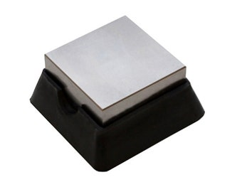 "2"" Steel and Rubber Bench Block Jewelry Making Work Stamping Dapping Surface - DAP-520.00"