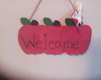 Wooden Apple sign