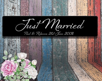 Just Married Wedding Plaques