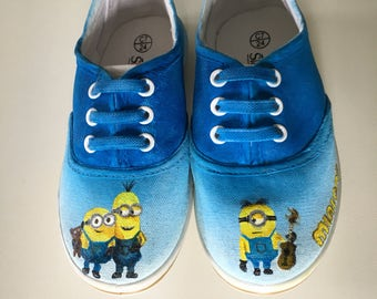 Custom design!! Childrens, handpainted, shoes! Theme of your choice