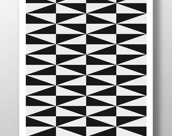 Black White Print,Black Arrow,Black Diamond Art,Black White Wall Art,