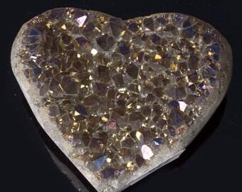 Titanium Aura Quartz Crystal Heart 4.2 oz. A-822