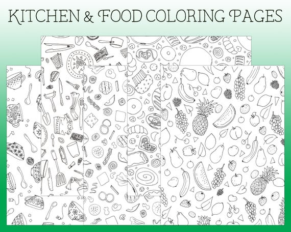 Coloring Pages Kitchen Page I Spy
