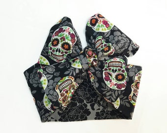Sugar skull Headwrap, Skulls, Headband, Baby Headwrap, Head band, Newborn Headband, Floral, Hair Accessories,  Headbands & Turbans