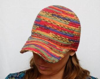Crochet visor Cap Kids hats Baseball cap Kids fall Adult cap kids autumn Winter accessories kids Hat for Kids Gift for him Crochet visor hat