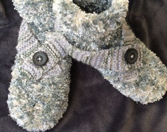 Adult slippers, knitted hand / knitted slippers / adult slippers