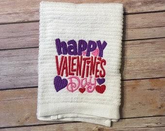 Valentine's Day  Dish Towel