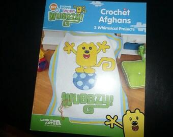 Leisure Arts Nick Jr. Wow Wow Wubbzy Crochet Afghans Pattern Leaflet