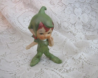 Vintage Elf Figurine, Fantasy Art