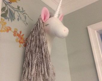 Unicorn faux taxidermy, unicorn head, animal head