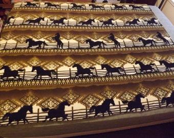Fleece Blanket, Twin, Southwest Horses