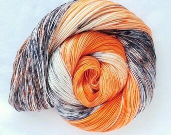 Tangerine Parfait hand painted indie yarn