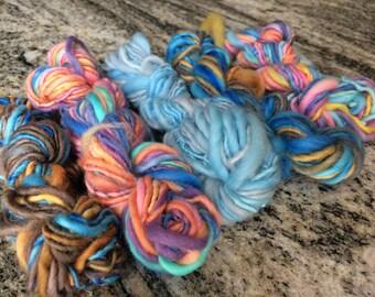 mini skein yarn - mini skein set - handspun yarn mini skein - yarn mini skein