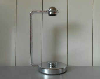 Vintage 1980s GUZZINI Kitchen towel holder dispenser in Plastic. Italian design. Made in Italy. Retro kitchenware housewares Chrome look