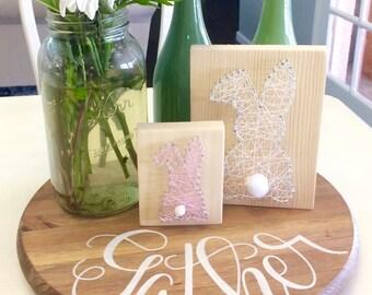 Easter Bunny String Art - easter basket - easter decoration - easter gift - Spring Decor - happy easter - hoppy easter  - mini