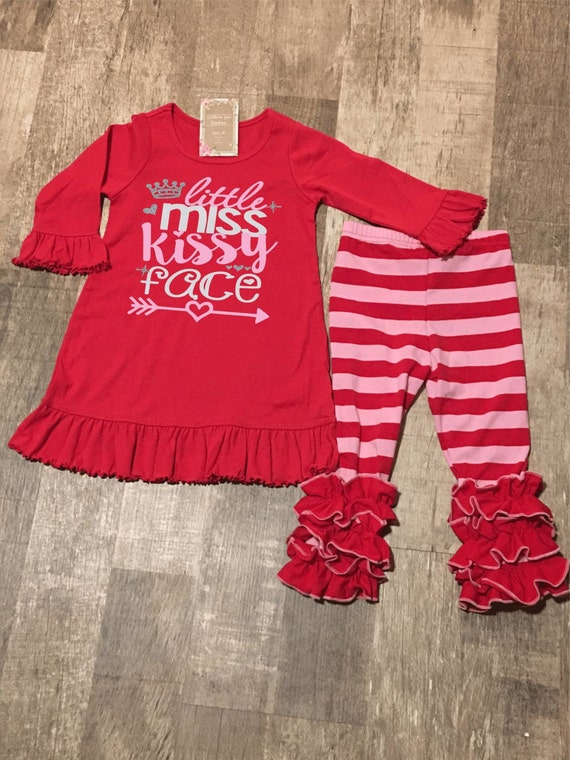 Valentine's Day ruffle outfit