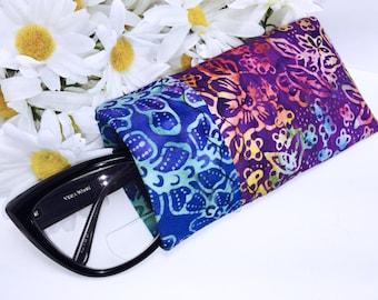 Batik Eyeglass Case, Glasses Case, Sunglasses Case, Glasses Pouch, Sunglass Slip Style Pouch