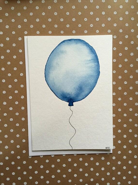 Happy Birthday Card, Hand Painted Birthday Card, Watercolor Birthday Card