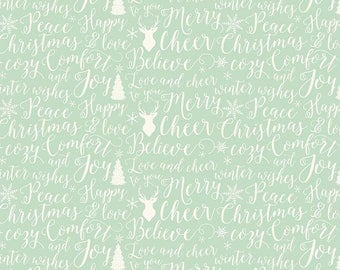 1 Yard Comfort and Joy by Design by Dani for Riley Blake Designs- 6264 Lite Green