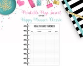 LAST CHANCE: Health Care Tracker - Budget Binder Printable Page Insert for your Happy Planner Classic - Instant Download