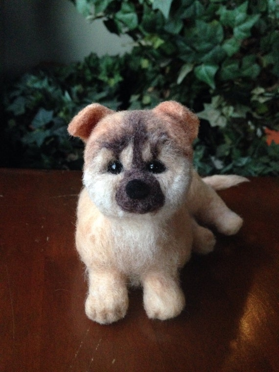 Needle felted dog, felted animal, felted dog, felt dog, Dog, felted animal, gift for her, unique, Shiba Inu, felted puppy, handmade OOAK