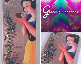 Snow White - iPhone 8 7 6 plus 6 s 6 5 s 5c 5 - coque iPhone de Disney - iPhone iPhone coque - Disney - 8 plus - iPhone 8 - paillettes Disney
