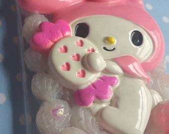 My Melody Pink Bunny iPhone 6 Plus Decoden Case