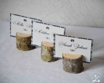 Wooden place card holders, set of 450 rustic wedding name card holders