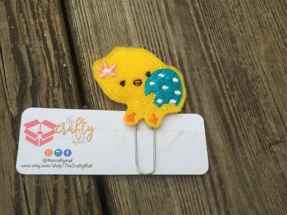 Chick Holding Egg Planner Clip/Planner Clip/Bookmark. Easter planner clip