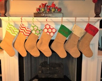 Personalized Burlap Stockings