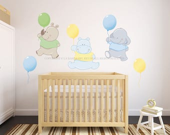Wall decals kids Wall stickers Baby Nursery Room Decor Balloons