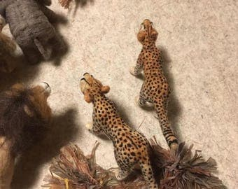 Needle Felt Animal Sculpture - Cheetah