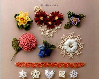 Tatting lace accessory by Emiko kitao