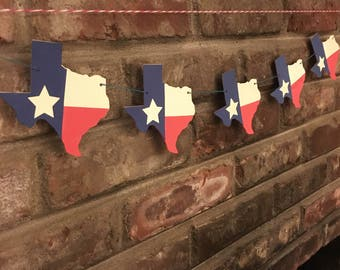 Texas Flag Garland