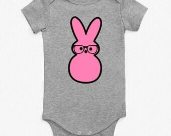 Hipster Peep Bunny Tshirt/Bodysuit