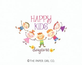 daycare logo kids logo design girl logo boy logo school logo kindergarten logo preschool logo boutique logo premade logo photography logo