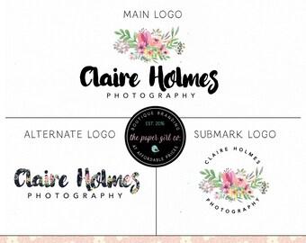 florist logo design photography logo floral logo premade flower logo circular logo alternate logo jewelry design logo event planner logo