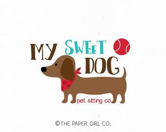 dog logo design weiner dog logo premade logo pet sitter logo dog walker logo pet treats logo pet bakery logo photography logo vet logo