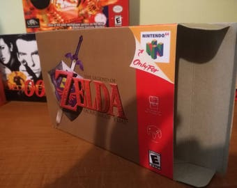 The Legend of Zelda: Ocarina of Time Nintendo 64 N64 Reproduction Box! Best Repros in the world!